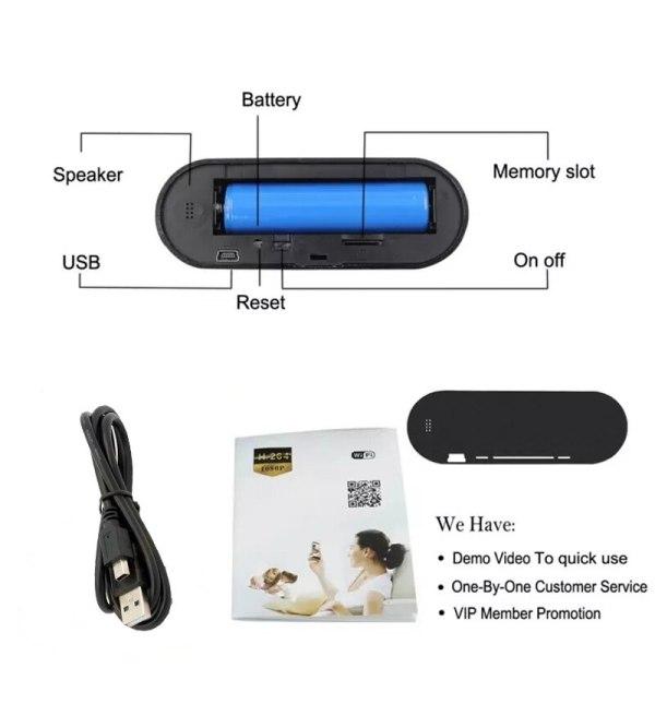 Hebeiros HD 2MP Battery Clock Camera Mini IP WiFi Camera 1080P P2P Camcorder Night Vision Alarm 5 Hebeiros HD 2MP Battery Clock Camera Mini IP WiFi Camera 1080P P2P Camcorder Night Vision Alarm Motion Remote CCTV Camera