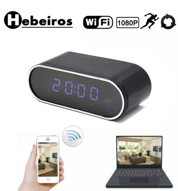 Hebeiros HD 2MP Battery Clock Camera Mini IP WiFi Camera 1080P P2P Camcorder Night Vision Alarm Hebeiros HD 2MP Battery Clock Camera Mini IP WiFi Camera 1080P P2P Camcorder Night Vision Alarm Motion Remote CCTV Camera