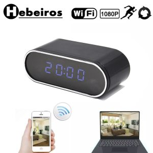 Hebeiros HD 2MP Battery Clock Camera Mini IP WiFi Camera 1080P P2P Camcorder Night Vision Alarm Innrech Market.com