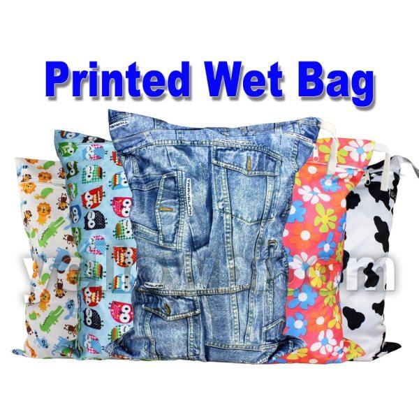 Littles Bloomz Washable Reusable Cloth Diaper Wet Nappy Bag Waterproof Swim Sport Travel Carry bag [Littles&Bloomz] Washable Reusable Cloth Diaper Wet Nappy Bag / Waterproof Swim Sport Travel Carry bag/ Big Size:40X30cm