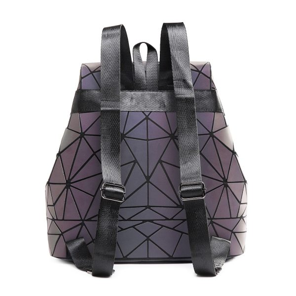 Women Backpack Luminous Geometric Plaid Sequin Female Backpacks For Teenage Girls Bagpack Drawstring Bag Holographic Backpack 1 Women Backpack Luminous Geometric Plaid Sequin Female Backpacks For Teenage Girls Bagpack Drawstring Bag Holographic Backpack