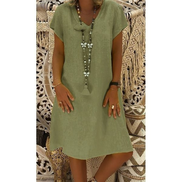 Women Dress Plus Size Dresses Womens Loose Summer Style Feminino Vestido Cotton Casual Big Size Ladies Women Dress Plus Size Dresses Womens Loose Summer Style Feminino Vestido Cotton Casual Big Size Ladies Dress Boho Sundress #40