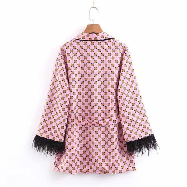 Women jacket for women fashion suit jacket with fringed print 2 Women jacket for women fashion suit jacket with fringed print