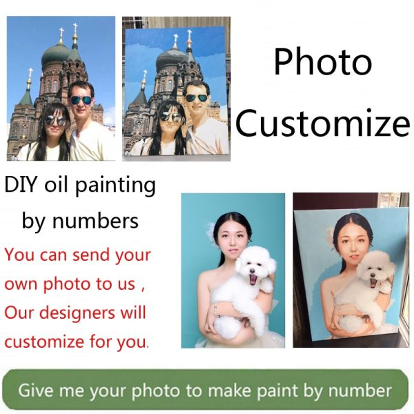Wow Painting by Numbers for portrait wedding family Pet photos custom digital painting coloring by numbers 1 Wow! Painting by Numbers for portrait wedding family Pet photos custom digital painting coloring by numbers on canvas paints