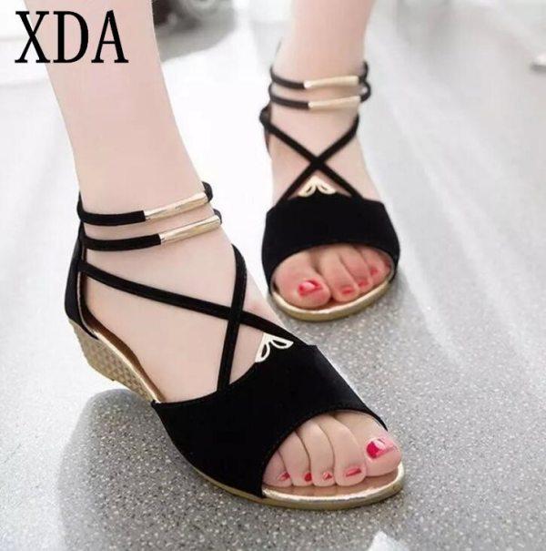 XDA 2019 fashion Women zipper sandals Shoes woman footwear sandals Women s summer shoes Gladiator Casual XDA 2019 fashion Women zipper sandals Shoes woman footwear sandals Women's summer shoes Gladiator Casual Ladies Shoes