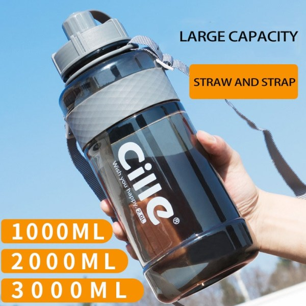 1L 2L 3L Large Capacity Sports Water Bottles Portable Plastic Outdoor Camping Picnic Bicycle Cycling Climbing 1L 2L 3L Large Capacity Sports Water Bottles Portable Plastic Outdoor Camping Picnic Bicycle Cycling Climbing Drinking Bottles