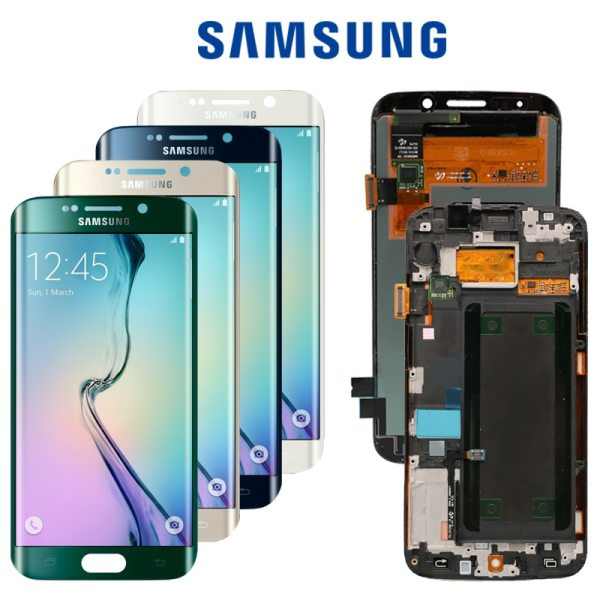 5 1 ORIGINAL SUPER AMOLED LCD with Frame for SAMSUNG Galaxy s6 edge Display G925 G925I 5.1''ORIGINAL SUPER AMOLED  LCD with Frame for SAMSUNG Galaxy s6 edge Display G925 G925I G925F Touch Screen Digitizer