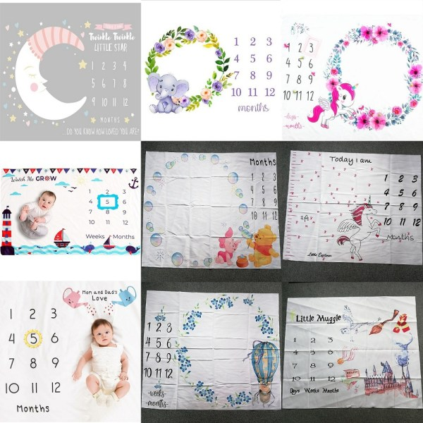 Cute Baby Play Mats Infant Portray Blanket Infant Milestone Photo Props Background Cloth Kids Bed Room Cute Baby Play Mats Infant Portray Blanket Infant Milestone Photo Props Background Cloth Kids Bed Room Decor Photo Accessories