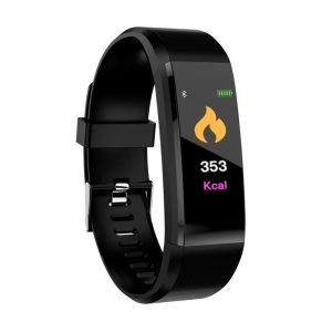 Doolnng Color Screen Smart Bracelet Sports Pedometer Watch Fitness Running Walking Tracker Heart Rate Pedometer Smart Innrech Market.com