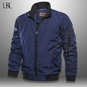 LBL Solid Bomber Jacket Men Casual Autumn Spring Military Pockets Jackets Man Outwear Slim Fit Mens Innrech Market.com
