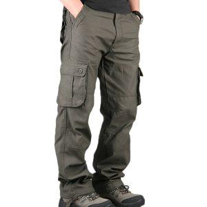 Men s Cargo Pants Mens Casual Multi Pockets Military Large size 44 Tactical Pants Men Outwear Innrech Market.com