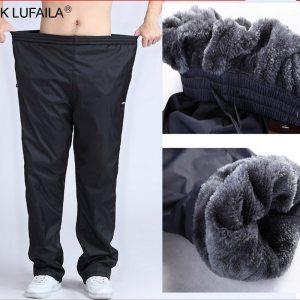 Men s Super Warm Winter Pants Thick Wool Joggers Fleece Trousers Waterproof Sweatpants Windbreaker Cargo Pants Innrech Market.com