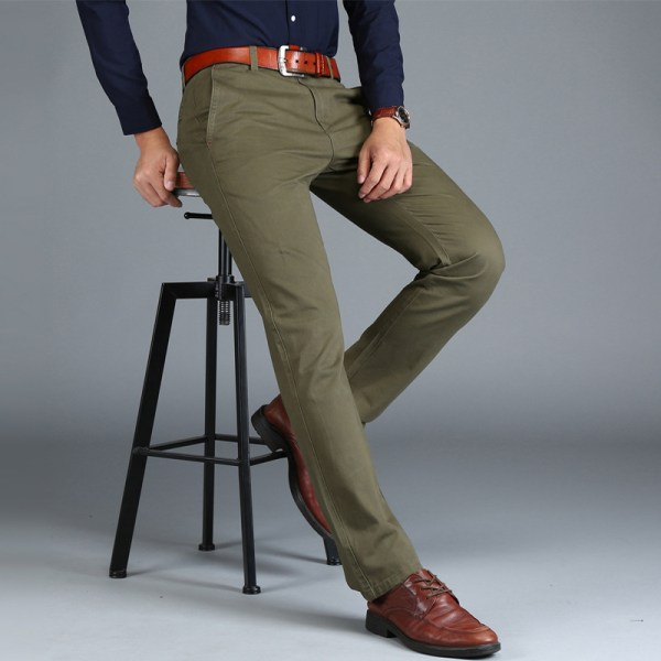 Mens Chinos High Quality Cotton Casual Pants Stretch Male Trousers Man Long Straight Plus Size chinos 3 Mens Chinos High Quality Cotton Casual Pants Stretch Male Trousers Man Long Straight Plus Size chinos pants