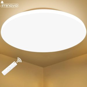 Modern LED Ceiling Light Lighting Fixture Lamp Surface Mount Living Room Bedroom Bathroom Remote Control Home 1 Innrech Market.com