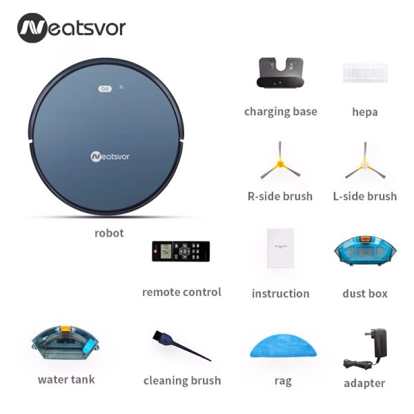NEATSVOR X500 Robot Vacuum Cleaner 1800PA Poweful Suction 3in1 pet hair home dry wet mopping cleaning 4 NEATSVOR X500 Robot Vacuum Cleaner 1800PA Poweful Suction 3in1 pet hair home dry wet mopping cleaning robot Auto Charge vacuum