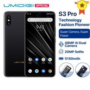 UMIDIGI S3 PRO Android 9 0 48MP 12MP 20MP Super Camera 5150mAh Big Power 128GB 6GB Innrech Market.com