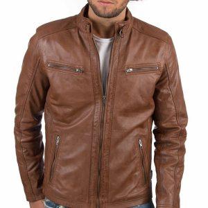 VAINAS European Brand Mens Genuine Leather jacket for men Winter Real sheep leather jacket Motorcycle jackets Innrech Market.com