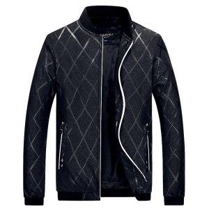 2019 Spring Autumn Men s Jackets Solid Fashion Coats Men Bomber Jacket Male Casual Slim Stand Innrech Market.com
