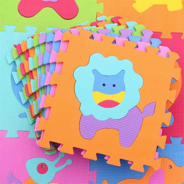 9Pcs set EVA Foam Baby Play Mat Stitching Crawling Rug Kid Kruipen Mat Assembled Animal Carpet 3 9Pcs/set EVA Foam Baby Play Mat Stitching Crawling Rug Kid Kruipen Mat Assembled Animal Carpet Puzzle Pad For Children Games