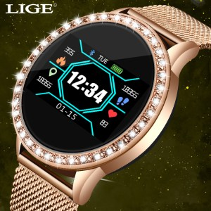 LIGE New Smart Bracelet Women Health Watch Activity Fitness Tracker Blood Pressure Heart Rate Monitor Smart Innrech Market.com