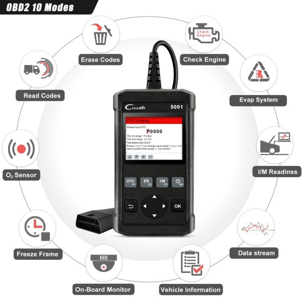 Launch X431 CR5001 OBD2 Scanner Engine Code Reader ODB2 Car Diagnostic Tool Free Update Support full 1 Launch X431 CR5001 OBD2 Scanner Engine Code Reader ODB2 Car Diagnostic Tool Free Update Support full OBD2 Automotive Scanner