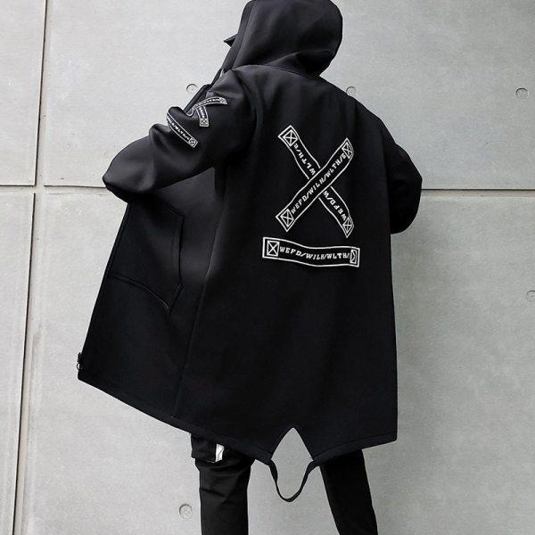 Long Jacket Men Print Fashion 2019 Spring Harajuku Windbreaker Overcoat Male Casual Outwear Hip Hop Streetwear 5 Long Jacket Men Print Fashion 2019 Spring Harajuku Windbreaker Overcoat Male Casual Outwear Hip Hop Streetwear Coats WG198