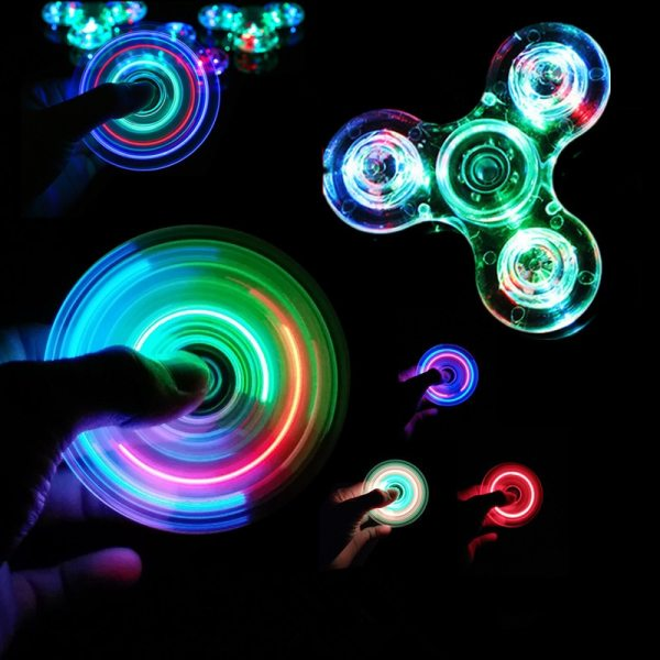Luminous LED light Fidget Spinner Hand Top Spinners Glow in Dark Light EDC Figet Spiner Batman Luminous LED light Fidget Spinner Hand Top Spinners Glow in Dark Light EDC Figet Spiner Batman Finger Stress Relief Toys
