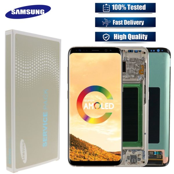 Original LCD For Samsung Galaxy S8 G950 G950F Burn in Shadow Lcd Display With Touch Screen Original LCD For Samsung Galaxy S8 G950 G950F Burn-in Shadow Lcd Display With Touch Screen Digitize