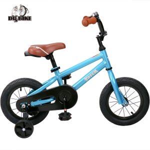 12 Inch Kids Bike Totem DIY Blue Steel Kids Bike DIY Sticker Kids Bicycle with Detachable Innrech Market.com