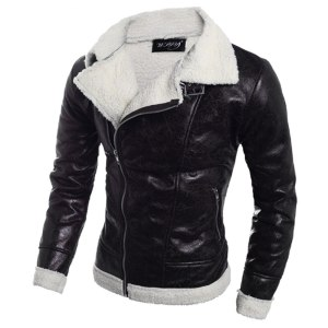 2019 Men Leather Jacket Autumn Winter Warm Men s Sheepskin Coat Fur Liner Lapel Leather Zipper Innrech Market.com