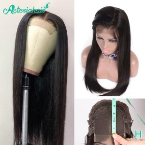Asteria Hair 4 4 Lace Closure Human Hair Wigs For Black Women Brazilian Straight Human Hair Innrech Market.com