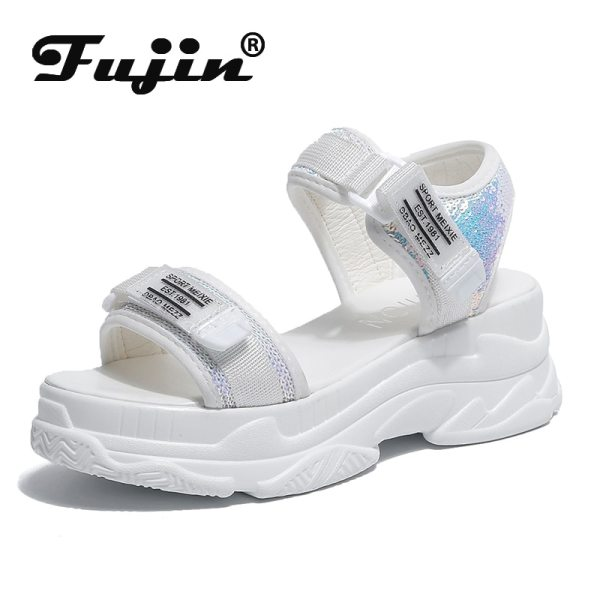 Fujin High Heeled Sandals Female Summer 2019 Women Thick Bottom Shoes Wedge with Open Toe Platform Fujin High Heeled Sandals Female Summer 2019 Women Thick Bottom Shoes Wedge with Open Toe Platform Shoes Increased Shoes