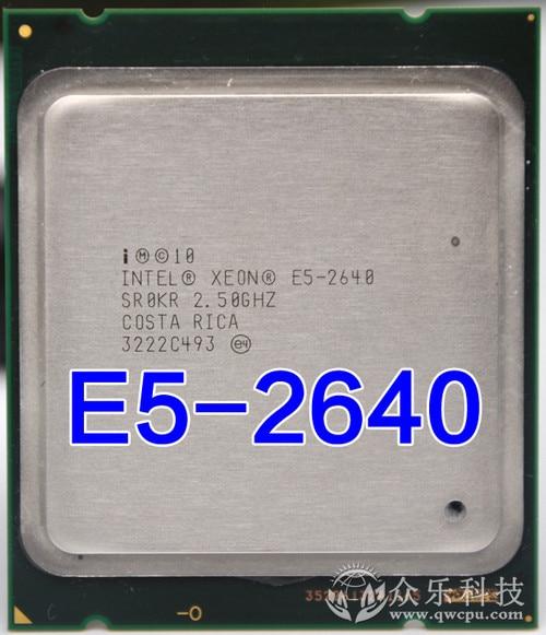 Intel Xeon E5 2640 E5 2640 15M Cache 2 50 GHz 7 20 GT s Processore Intel Xeon E5-2640 E5 2640 15M Cache 2.50 GHz 7.20 GT/s Processore CPU e5 2640