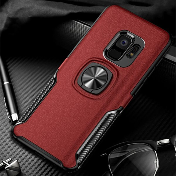 Leather Texture Stand Case For Samsung Galaxy S9 S8 S10 Plus Note 10 9 8 Ring Leather Texture Stand Case For Samsung Galaxy S9 S8 S10 Plus Note 10 9 8 Ring Holder Magnetic Armor Cover For J4 J6 J8 A8 2018