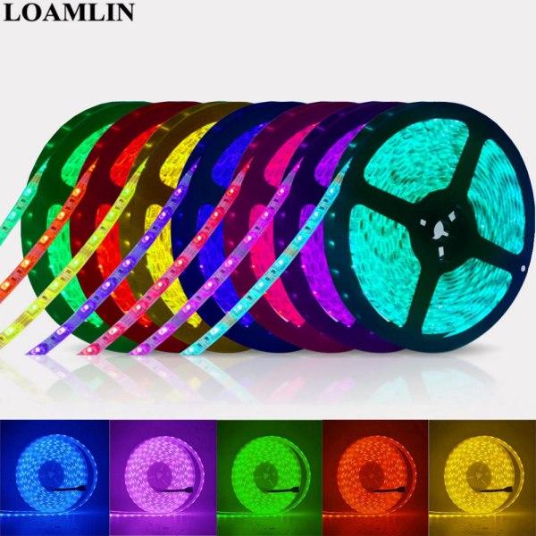 Led Strip 5050 RGB Lights DC12V Flexible Home Decoration Lighting Waterproof Led Tape RGB White Warm Led Strip 5050 RGB Lights DC12V Flexible Home Decoration Lighting Waterproof Led Tape RGB/White/Warm White/Blue/Green/Red
