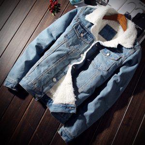 Men Jacket and Coat Trendy Warm Fleece Denim Jacket 2018 Winter Fashion Mens Jean Jacket Outwear Innrech Market.com