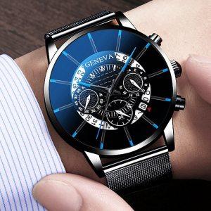 Men s Watch Reloj Hombre Relogio Masculino Stainless Steel Calendar Quartz Wristwatch Men Sports Watch Clock Innrech Market.com