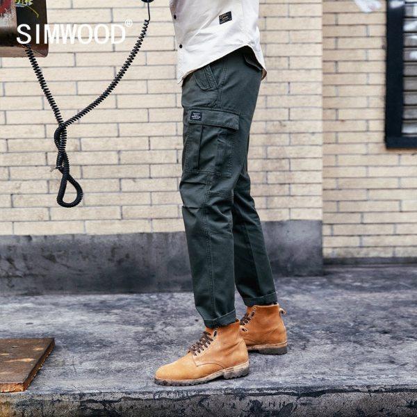 SIMWOOD New 2019 Casual Pants Men Fashion track Cargo Pants Ankle Length military autumn Trousers Men SIMWOOD New 2019 Casual Pants Men Fashion track Cargo Pants Ankle-Length military autumn Trousers Men pantalon hombre 180614