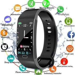Smart Bracelet Blood Pressure Measurement Fitness Tracker Watch Waterproof Heart Rate Monitor Smart Wristband Women Men Innrech Market.com