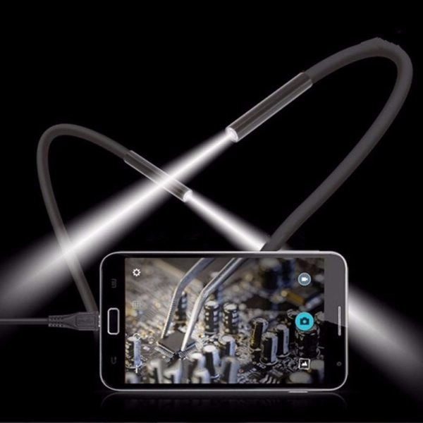 1M 5 5m 7mm Lens USB Endoscope Camera Waterproof Flexible Wire Snake Tube Inspection Borescope For 1M 5.5m/7mm Lens USB Endoscope Camera Waterproof Flexible Wire Snake Tube Inspection Borescope For OTG Compatible Android Phones