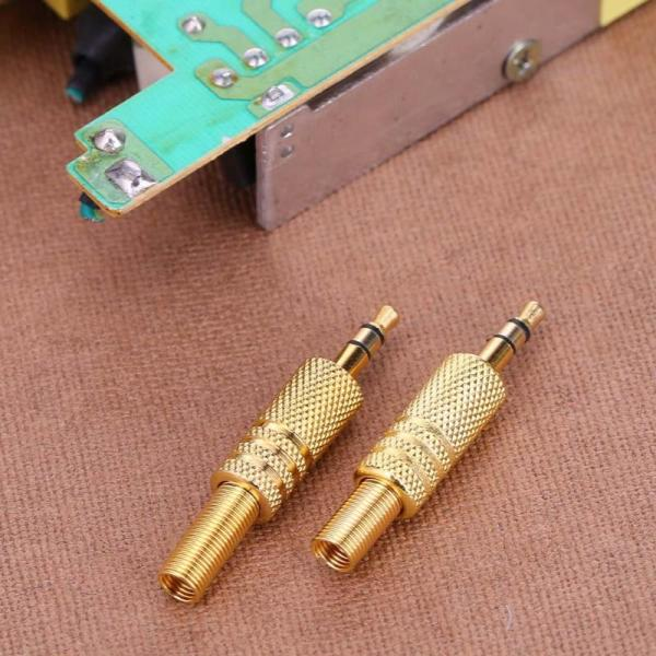 2Pcs Stereo 3 5mm 1 8in Headphone Earphone DIY Male Audio Jack Plug Solder Connectors for 3 2Pcs Stereo 3.5mm 1/8in Headphone Earphone DIY Male Audio Jack Plug Solder Connectors for Computers Laptops Tablets MP3 Hot Sale