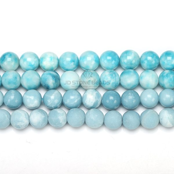 6 8 10 12MM Larimar gemstone Round Loose beads Matte Ocean Sea stone bracelet necklace for 1 6 8 10 12MM Larimar gemstone Round Loose beads Matte Ocean Sea stone bracelet necklace for jewelry Making
