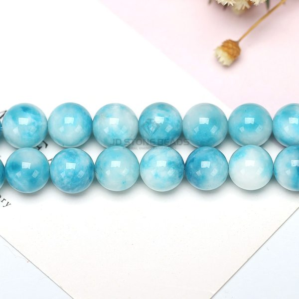 6 8 10 12MM Larimar gemstone Round Loose beads Matte Ocean Sea stone bracelet necklace for 3 6 8 10 12MM Larimar gemstone Round Loose beads Matte Ocean Sea stone bracelet necklace for jewelry Making