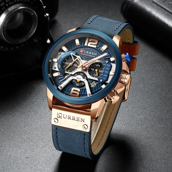CURREN Luxury Brand Men Analog Leather Sports Watches Men s Army Military Watch Male Date Quartz 1 CURREN Luxury Brand Men Analog Leather Sports Watches Men's Army Military Watch Male Date Quartz Clock Relogio Masculino 2019