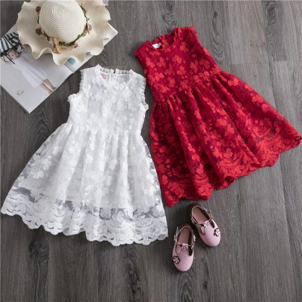 Girls Dress 2019 New Summer Brand Girls Clothes Lace And Ball Design Baby Girls Dress Party Girls Dress 2019 New Summer Brand Girls Clothes Lace And Ball Design Baby Girls Dress Party Dress For 3-8 Years Infant Dresses