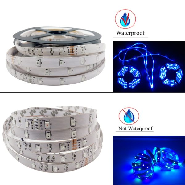 Led Strip Light 2835 SMD RGB Tape 5M 10M 15M 20M DC12V 3528 Flexible RGB LED 3 Led Strip Light 2835 SMD RGB Tape 5M 10M 15M 20M DC12V 3528 Flexible RGB LED Stripe Ribbon Diode +24Key Controller+ Adapter EU