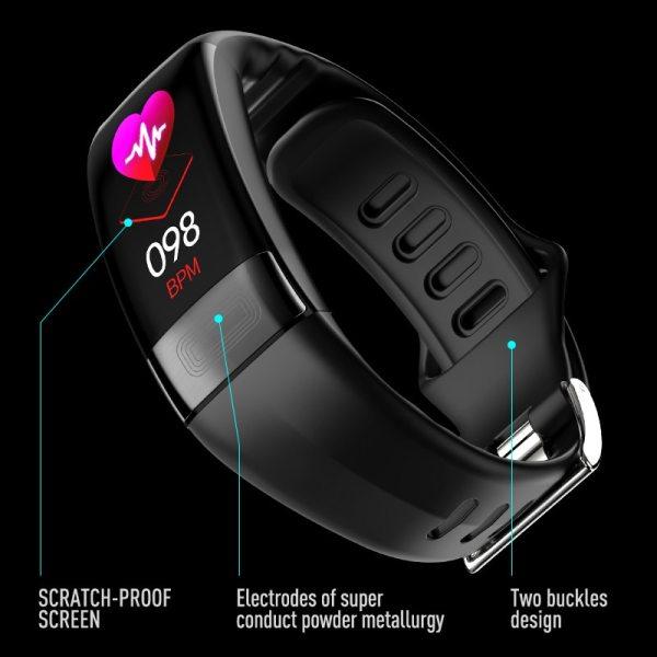MKS Smartband Blood Pressure Smart Band Heart Rate Monitor PPG ECG Smart Bracelet Activity Fitness Tracker 4 MKS Smartband Blood Pressure Smart Band Heart Rate Monitor PPG ECG Smart Bracelet Activity Fitness Tracker Electronics Wristband