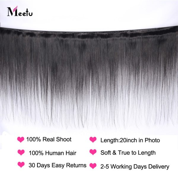 Meetu Malaysian Hair Bundles with Closure Straight Hair Bundles with Closure Natural Human Hair Bundles with 1 Meetu Malaysian Hair Bundles with Closure Straight Hair Bundles with Closure Natural Human Hair Bundles with Closure Non Remy