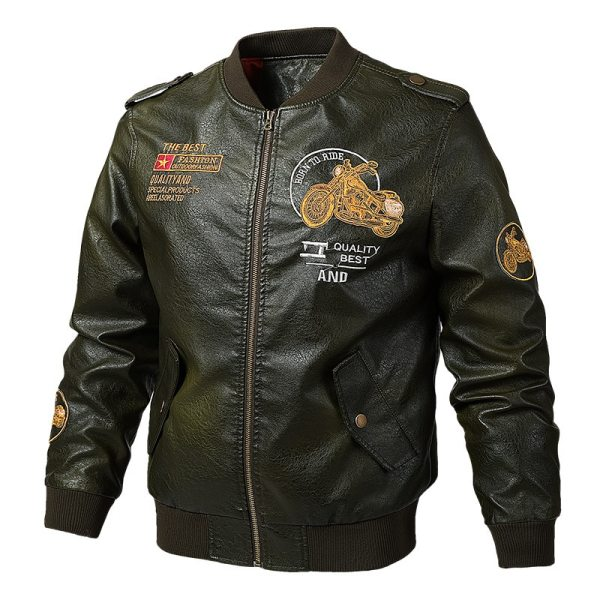 Men s Leather Jackets and Coats Male Motorcycle Leather Jacket Casual Slim Brand Clothing V Neck 1 Men's Leather Jackets and Coats Male Motorcycle Leather Jacket Casual Slim Brand Clothing V-Neck Collar Coats