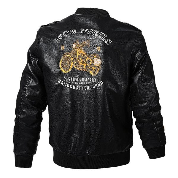 Men s Leather Jackets and Coats Male Motorcycle Leather Jacket Casual Slim Brand Clothing V Neck 3 Men's Leather Jackets and Coats Male Motorcycle Leather Jacket Casual Slim Brand Clothing V-Neck Collar Coats